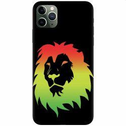 Husa silicon pentru Apple iPhone 11 Pro Rasta Color Lion Huse Telefoane