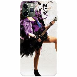 Husa silicon pentru Apple iPhone 11 Pro Rock Music Girl Huse Telefoane