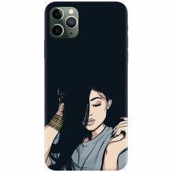 Husa silicon pentru Apple iPhone 11 Pro Max Simple Girl
