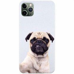 Husa silicon pentru Apple iPhone 11 Pro Simple Pug Selfie Huse Telefoane
