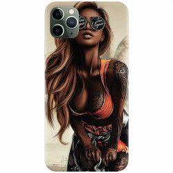 Husa silicon pentru Apple iPhone 11 Pro Tattoed Girl Huse Telefoane