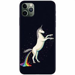 Husa silicon pentru Apple iPhone 11 Pro Unicorn Shitting Rainbows Huse Telefoane