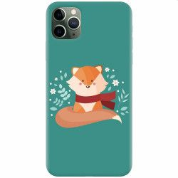Husa silicon pentru Apple iPhone 11 Pro Max Winter Fox Huse Telefoane