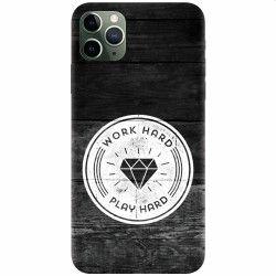 Husa silicon pentru Apple iPhone 11 Pro Work Hard Play Hard Huse Telefoane