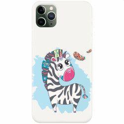 Husa silicon pentru Apple iPhone 11 Pro Zebra Huse Telefoane