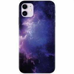 Husa silicon pentru Apple iPhone 11 Purple Space Nebula Huse Telefoane