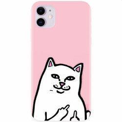 Husa silicon pentru Apple iPhone 11 White Cat Huse Telefoane