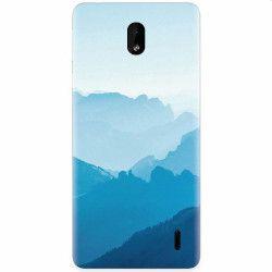 Husa silicon pentru Nokia 1 Plus Blue Mountain Crests