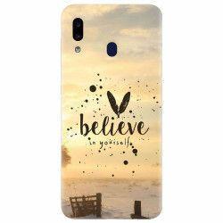 Husa silicon pentru Samsung Galaxy A20e Believe In Yourself