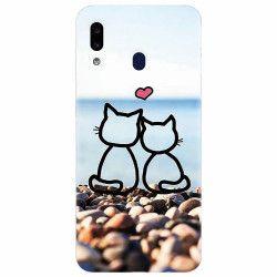 Husa silicon pentru Samsung Galaxy A20e In Love Cats