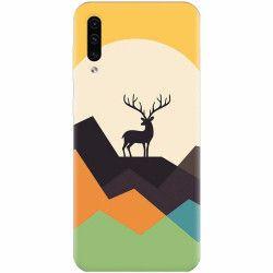 Husa silicon pentru Samsung Galaxy A70 Abstract Deer