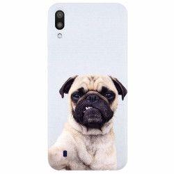 Husa silicon pentru Samsung Galaxy M10 Simple Pug Selfie