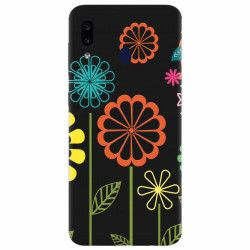 Husa silicon pentru Samsung Galaxy M40 Colorful Spring Birds Flowers Vectors Huse Telefoane