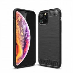 Husa Spate Forcell Carbon Pro iPhone 11 Negru Silicon Huse Telefoane