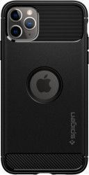 Husa Spigen Rugged Armor Apple iPhone 11 Pro Max Black Huse Telefoane