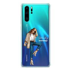 Husa telefon Huawei P30/ P30 Lite/ P30 Pro Monday mornings Transparent