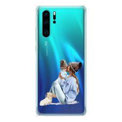 Husa telefon Huawei P30/ P30 Lite/ P30 Pro pentru mama de baietel Transparent Huse Telefoane
