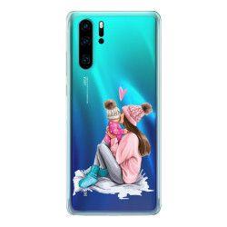 Husa telefon Huawei P30/ P30 Lite/ P30 Pro pentru mama de fetita Transparent Huse Telefoane