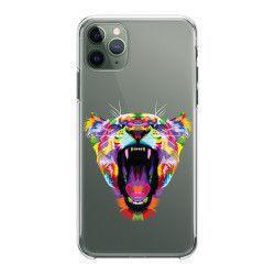 Husa telefon iPhone 11 11 Pro 11 Pro Max Colorful Tiger Transparent Huse Telefoane