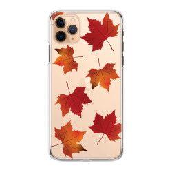 Husa telefon Iphone 11 11 Pro 11 Pro Max cu frunze de toamna Transparent Huse Telefoane