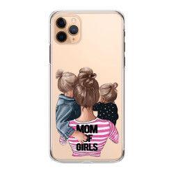 Husa telefon Iphone 11 11 Pro 11 Pro Max cu mamici de fete Transparent Huse Telefoane