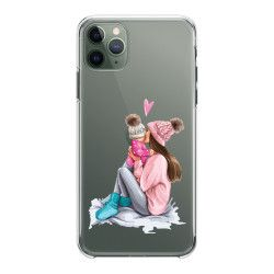 Husa telefon Iphone 11 11 Pro 11 Pro Max pentru mama de fetita Transparent Huse Telefoane