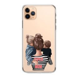 Husa telefon Iphone 11 11 Pro 11 Pro Max pentru super mama si super copiii Transparent Huse Telefoane