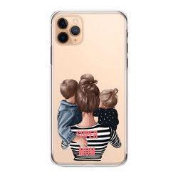 Husa telefon Iphone 11 11 Pro 11 Pro Max pentru super mama si copiii Transparent Huse Telefoane