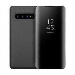 Husa Tip Carte Mirror Samsung Galaxy S10+ Plus Negru