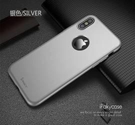 Husa Apple iPhone X FullBody Elegance Luxury iPaky Silver acoperire completa 360 grade cu folie de sticla gratis