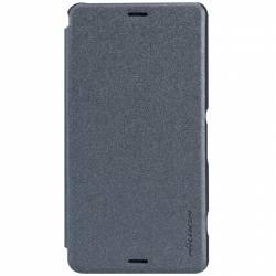 Husa Book Nillkin Sparkle pentru Sony Xperia Z3 Compact Negru Huse Telefoane