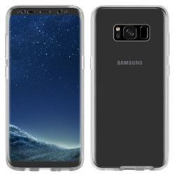 Husa Full TPU 360° fata + spate ultra-slim 0.3 mm pentru Samsung Galaxy S8 Plus Alb Transparent Huse Telefoane