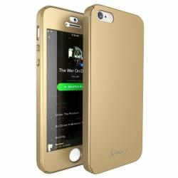 Husa Ipaky iPhone 5 iPhone 5S iPhone SE Full Cover 360 + folie sticla Auriu Huse Telefoane
