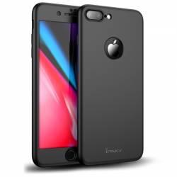 Husa iPaky Originala iPhone 8 Plus Full Cover 360 + folie sticla Negru Huse Telefoane