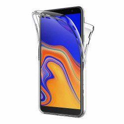 Husa Samsung Galaxy J4 Plus 2018 Silicon TPU 360 grade fata - spate - transparent Huse Telefoane