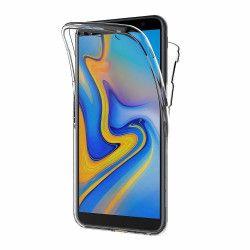 Husa Samsung Galaxy J6 Plus 2018 Silicon TPU 360 grade fata - spate - transparent Huse Telefoane