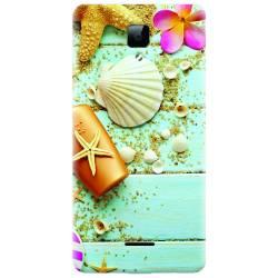 Husa silicon pentru Allview P5 Energy Blue Wood Seashells Sea Star Huse Telefoane