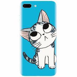 Husa silicon pentru Apple Iphone 8 Plus Cat Lovely Cartoon
