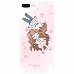 Husa silicon pentru Apple Iphone 8 Plus Cute Couple