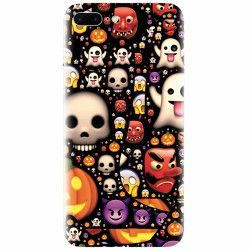 Husa silicon pentru Apple Iphone 8 Plus Emoji Mess Huse Telefoane
