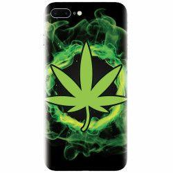 Husa silicon pentru Apple Iphone 8 Plus GreenFlames