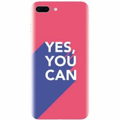 Husa silicon pentru Apple Iphone 8 Plus Yes You Can