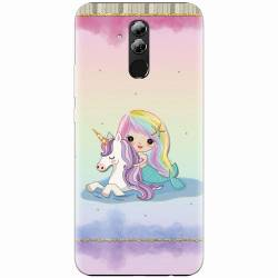 Husa silicon pentru Huawei Mate 20 Lite Mermaid Unicorn Play