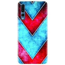 Husa silicon pentru Huawei P20 Pro Blue And Red Abstract