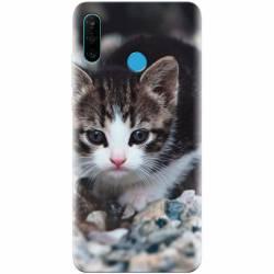 Husa silicon pentru Huawei P30 Lite Animal Cat Huse Telefoane