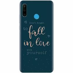 Husa silicon pentru Huawei P30 Lite Fall In Love Huse Telefoane