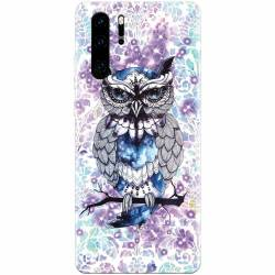 Husa silicon pentru Huawei P30 Pro Abstract Owl