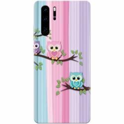 Husa silicon pentru Huawei P30 Pro Cute Owl