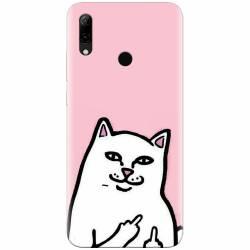 Husa silicon pentru Huawei P Smart 2019 White Cat