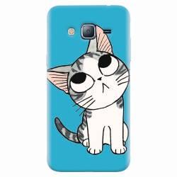 Husa silicon pentru Samsung Galaxy J3 2016 Cat Lovely Cartoon
